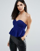 Unique 21 Bustier Peplum Top