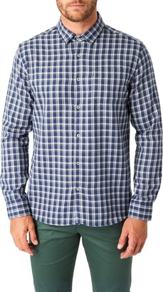 7 Diamonds Colton Trim Fit Check Button-Up Shirt