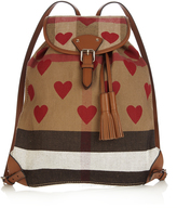 Burberry Heart-print canvas checked backpack