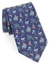 Salvatore Ferragamo Men's Safari Print Silk Tie