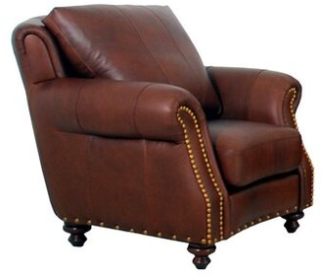 "Westland and Birch Randolph 46"" W Top Grain Leather Club Chair Fabric: Brompton Brown Genuine Leather"