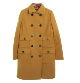 Gucci Yellow Wool Coats