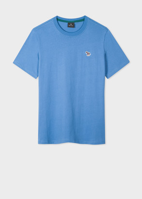 Paul Smith Men's Powder Blue Organic-Cotton Zebra Logo T-Shirt