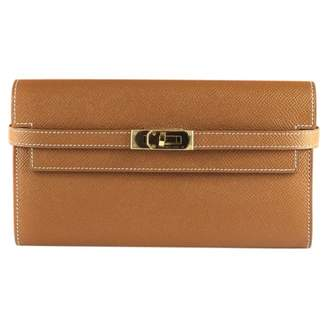 Hermes Kelly Camel Leather Wallets
