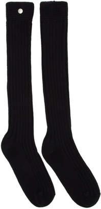 Rick Owens Black Ribbed Socks