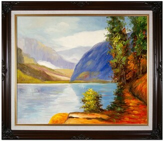 "Overstock Art Lake Louise, British Columbia with Vintage Cherry Frame, 26"" x 30"""