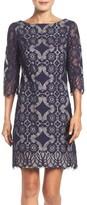 Eliza J Petite Women's Lace A-Line Dress