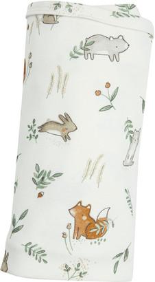 Angel Dear Kid's Delicate Woodland Printed Swaddle Blanket