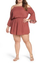 Glamorous Cold Shoulder Romper (Plus Size)