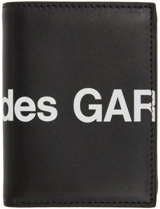 Comme des Garçons Wallets Black Huge Logo Card Holder