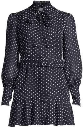 Alexis Ivette Polka Dot Shirtdress
