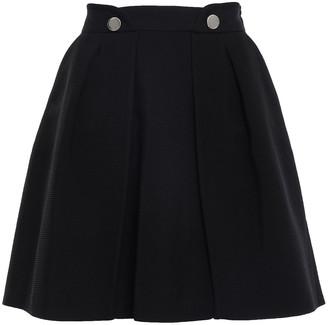 Claudie Pierlot Sonny Flared Pleated Ottoman Mini Skirt