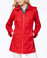 MICHAEL Michael Kors Hooded Zip-Front Raincoat