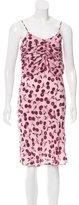 Nina Ricci Cherry Print Sleeveless Dress