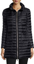 Moncler Quilted Four-Pocket Down Coat, Black