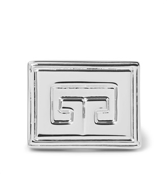 Givenchy Logo-Detailed Silver-Tone Ring