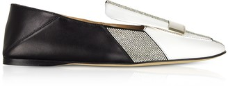 Sergio Rossi sr1 Two-Tone Royal Slippers w/ Crystals
