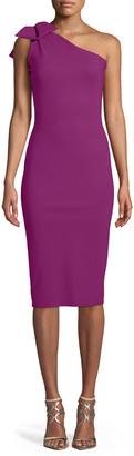 Chiara Boni Goji Cutout-Back & Bow-Shoulder Dress