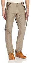 John Varvatos Men's Slim Fit Suspender Pant