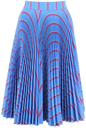 Calvin Klein Printed Pleated Skirt