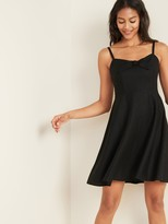 Old Navy Fit & Flare Linen-Blend Tie-Front Cami Dress for Women