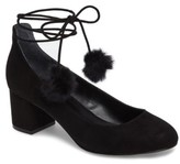 Charles by Charles David Women's Libby Faux Fur Pompom Pump