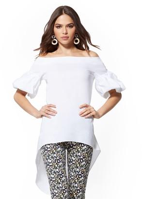 New York & Co. Hi-Lo Poplin Tunic Shirt