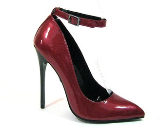 """The Highest Heel unisex adult Fierce-51 Pearlized Patent Ankle Strap With 4.5"""" Heel Pump"""