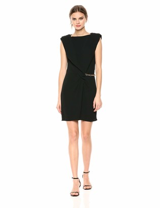 The Kooples Women's Women's Sleeveless Crepe Dress with Gold Chain
