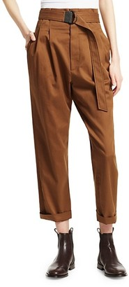 Brunello Cucinelli High-Waist Belted Trousers