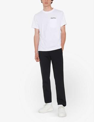 Sandro Graphic-print cotton-jersey T-shirt