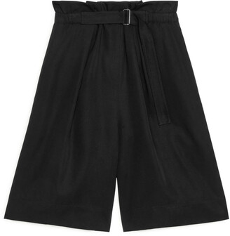 Arket Belted Lyocell Shorts