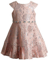 Sweet Heart Rose Sweetheart Rose Girls 2-6x Jacquard Floral Woven Dress