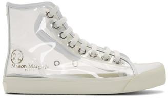 Maison Margiela Transparent Tabi High-Top Sneakers