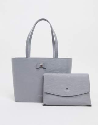 Ted Baker Deannah bow detail leather shopper bag