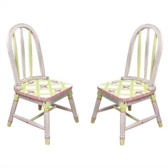 Fantasy Fields Crackled Rose Set of 2 Kids Chairs
