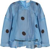 Natasha Zinko Polka-dot print silk-chiffon blouse