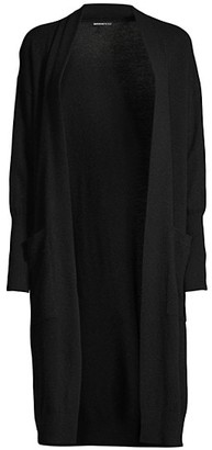 Minnie Rose Ribbed-Cuff Cashmere Duster
