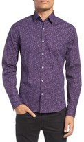 Stone Rose Men's Dotted Paisley Sport Shirt