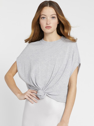 Alice + Olivia Cammy Tie Front Pullover