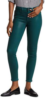 Hudson Nico Mid Rise Ankle Skinny Jeans in Waxed Teal