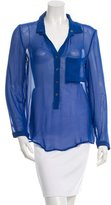 Helmut Lang Sheer Button-Up Top
