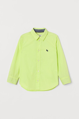 H&M Cotton Shirt - Yellow