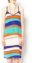 Glam Wavy Stripe Dress