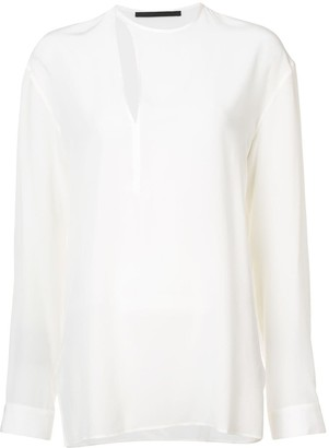 Haider Ackermann Cut Out Detail Blouse