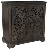 Pottery Barn Virginia Carved Wood Two Door Buffet