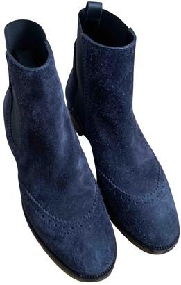 Balenciaga Blue Suede Ankle boots