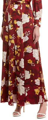 Alice + Olivia Athena Silk Maxi Skirt