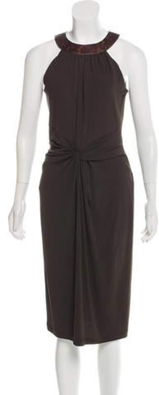 Michael Kors Sleeveless Knee-Length Dress Brown Sleeveless Knee-Length Dress