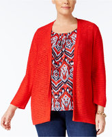 Alfred Dunner Plus Size Uptown Girl Collection Layered-Look Sweater